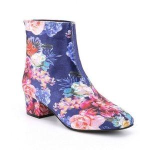 Betsey Johnson Talia velvet floral bootie